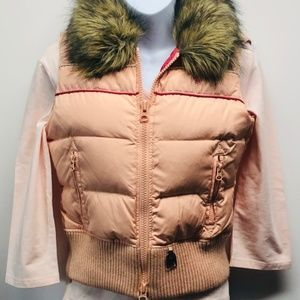 Abercrombie and Fitch Blush Down & Fur Hooded Vest